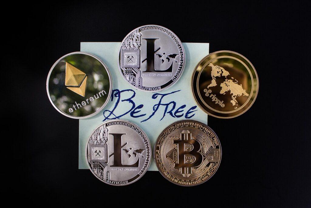 数種類の仮想通貨